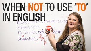 Download When NOT to use 'to' in English - Grammar Video