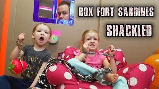 Download SHACKLED SARDINES in a HUGE BOX FORT MAZE! Family Hide and Seek Game!!! Video