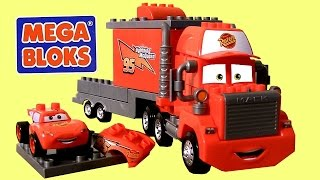 Download MegaBloks Mack & Lightning McQueen 7769 Disney Pixar Cars Lego Blocks 8486 Mack's Team Truck Video