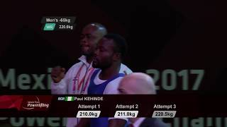 Download Paul Kehinde | Gold & WR | Men's Up to 65kg | Mexico City 2017 World Para Powerlifting Championships Video