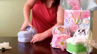 Download How to make a Diaper Cake -Small Bassinet for baby shower Video