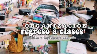 Download ORGANIZACIÓN PARA LA ESCUELA - regreso a clases ✨ carpeta + mochila + lapicera Video