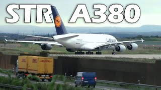 Download Airbus A380 Take-Off in Stuttgart, Close-Ups HD 16.08.2010 Video