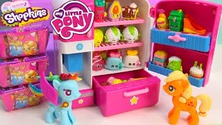 Download MLP Shopkins Season 2 So Cool Fridge Refrigerator My Little Pony POP Rainbow Dash Toy Blind Bags Video