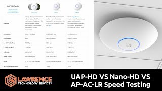 Download UniFi WiFi Speed Comparison UAP-HD VS Nano-HD VS AP-AC-LR Video