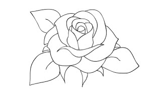 Download How to draw a rose - Easy step-by-step drawing lessons for kids Video