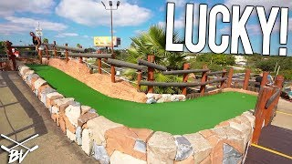 Download GIRLFRIEND GETS LUCKIEST MINI GOLF HOLE IN ONE EVER! Video