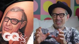 Download Jeff Goldblum Critiques Jeff Goldblum Tattoos | Tattoo Tour | GQ Video