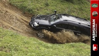 Download Toyota Fortuner & Mahindra Thar CRDe- Trying some difficult offroad climbs Video