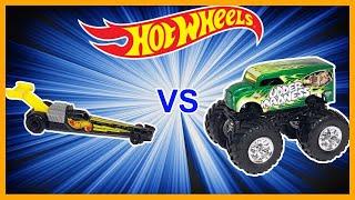 Download TOP FUEL DRAGSTERS vs MONSTER TRUCKS - Hot Wheels! Video