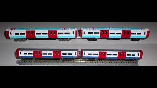 Download London Tube in N Gauge Corgi Tube Train on Tomytec chassi on test drive Video