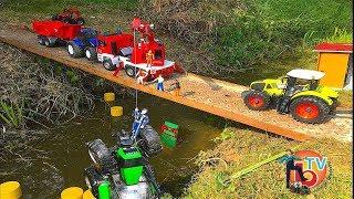 Download BRUDER TOYS Traktor Crash Deutz Agrofron He fell from a bridge Video