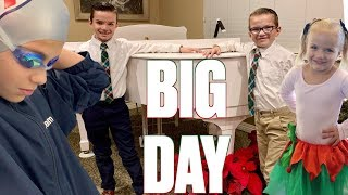 Download BUSY DAY IN THE LIFE WITH FOUR KIDS | SWIM, TUMBLING, DANCE, PIANO IN THE SAME DAY | CRAZY ROUTINE Video