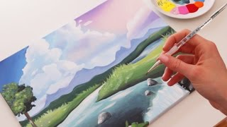Download How to Paint a Cute Landscape Video