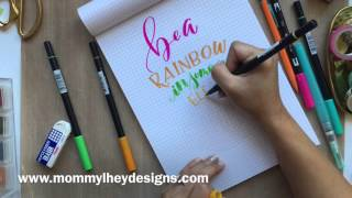 Download Real Time Hand Lettering Using Tombow Dual Brush Pens Video