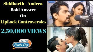 Download Siddharth & Andrea - Bold Answer on Lip-lock Controversy | Aval Exclusive Video