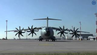 Download [HD] Airbus A400M Engine Start up at blue danube airport linz Video