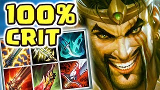 Download INSANE 100% CRIT DRAVEN DUO QUEUE | THE LUCKIEST CRITS EVER | PENTA FREE LIFE - Nightblue3 Video
