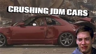 Download JDM Cars Getting Crushed! R33 | R34 | S13 Video