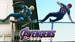 Download Stunts from Avengers EndGame In Real Life (Marvel, Parkour) Video
