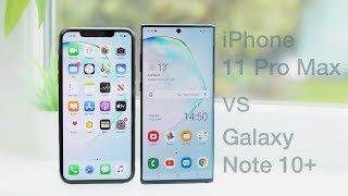 Download iPhone 11 Pro Max vs Galaxy Note 10+   In-Depth Comparison & Review Video