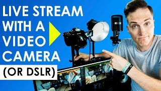 Download How to Live Stream with a Video Camera or DSLR (Live Streaming Setup Tour) Video