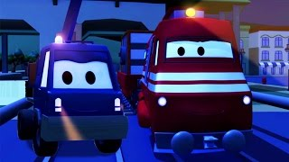 Download Troy The Train and the Cherry Picker Truck in Car City | Cars & Trucks cartoon for children Video