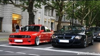 Download BMW M6 vs M3 E30 - LAUNCH CONTROL - CRAZY SOUND WITH CUSTOM PIPES Video