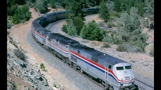 Download Amtrak #5, California Zephyr, as we follow it to and from Donner Pass. August, 1999 Video
