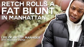 Download Retch Rolls a Fat Blunt In Manhattan [Life of Artist Manager] Video