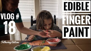 Download Edible Finger Paint & Sensory Play | Fathering Autism Vlog #18 Video