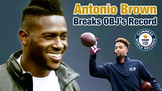 Download Antonio Brown Breaks Odell's One-Handed Catch for the Guinness World Record | NFL Video