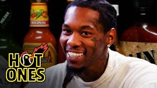 Download Offset Screams Like Ric Flair While Eating Spicy Wings | Hot Ones Video