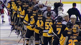 Download Handshakes: Penguins and Blue Jackets line up after hard fought series Video