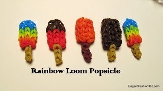 Download How to make Rainbow Loom Popsicle Charm - How to Video
