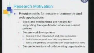 Download CERIAS Security: A Generalized Temporal Role Based Access Control Model 1/5 Video