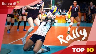Download TOP 10 BEST and LONGEST Women's Volleyball Rallies | Volleyball Rally ● BrenoB ᴴᴰ Video