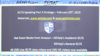 Download IELTS Live Class - Speaking Part 3 - Strategy for Band 9 Video