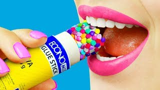 Download 8 Edible School Supplies / Funny Pranks! Video