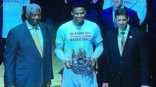 Download FULL CEREMONY FOR RUSSELL WESTBROOK WITH OSCAR ROBERTSON PASSING RECORD ON TO RUSSELL | OSCAR: ″MVP″ Video