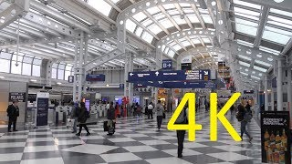 Download A 4K Video Tour of Chicago O'Hare International Airport (ORD) (Terminals 1-3) Video