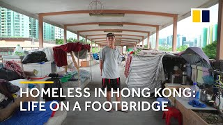 Download Extreme poverty in Hong Kong: homeless life on a footbridge Video