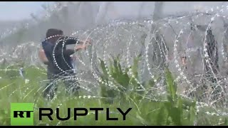 Download Greece: Clashes erupt as refugees try to break through Macedonian border Video