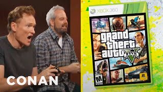 Download Conan O'Brien Reviews ″Grand Theft Auto V″ | Clueless Gamer | CONAN on TBS Video