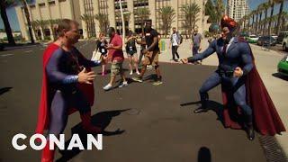 Download Conan Patrols Comic-Con® In His Superhero Suit - CONAN on TBS Video