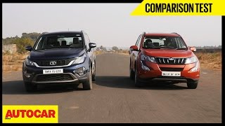Download Mahindra XUV500 vs Tata Hexa | Comparison Test | Autocar India Video