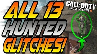 Download (7/8/16) ALL WORKING HUNTED GLITCHES! - Ledges, Wallbreaches, Secrets (Black Ops 3/BO3 Glitch) Video
