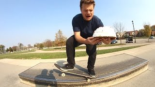 Download DON'T DROP THE CAKE WHILE SKATEBOARDING! Video