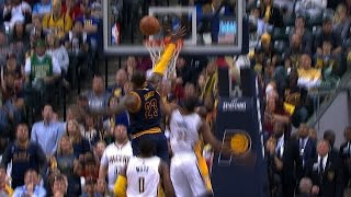 Download LeBron James With The Incredible Chasedown Block In Indiana | April 23, 2017 Video