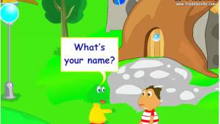 Download What's your name?, Self-introduction Lesson, English for Children Video